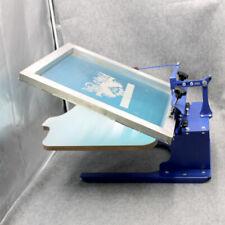 1 Color Screen Printing Printer Shirt Press Machine Adjustable Slant Palelt