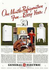 1935 GENERAL ELECTRIC GE MONITOR TOP & FLAT TOP Refrigerator DECORATIVE METAL SI