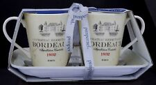 PIMPERNEL VIN DE FRANCE BORDEAUX 2 MUGS AND TRAY SET