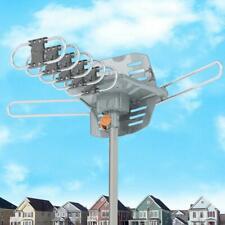 990 Mile 1080P HDTV Outdoor Amplified TV Antenna Digital HD TV UHF VHF 360 Rotor