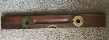 "1896 Orig Finish STANLEY PAT. 6-2-91, 2-4-96, & 6-23-96 WOOD & BRASS 24"" LEVEL"