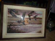 "KEN MICHAELSEN ""DAWN FLIGHT"" PICTURE COA SIGNED FRAMED MATTED AUTHENTIC RARE!"