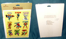 MARVEL SUPERHERO STICKERS, HALLMARK, SPIDER-MAN, X-MEN, HULK, IRON MAN, 1983