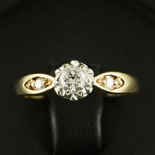 Klassischer Diamant Ring mit 0,25 ct. 2,6gr. 375/- GG