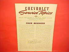 1940 CHEVROLET CAR TRUCK MASTER SPECIAL DELUXE CONVERTIBLE SERVICE SHOP MANUAL 5