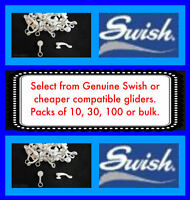 Swish Deluxe Curtain Track Gliders - De luxe rail runners slides sliders hooks