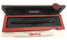 ROTRING 600 TRIO MATTE BLACK BALLPOINT PEN BLUE RED & PENCIL NEW IN BOX 46584 *