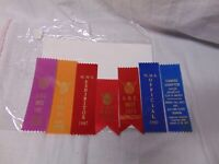 lot of (7) 1970's-80's Motorcycle Ribbons MMS AMC Yankee Chapter St Louis Conn