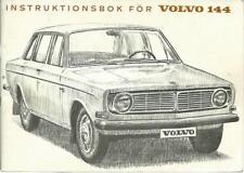 VOLVO 144 Instruktionsbok 1966 Betriebsanleitung Schwedisch Svenska BA