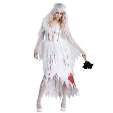 Damen Tot Blutige Zombie Braut Halloween Kostüm Outfit Hochzeit Geist