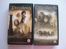 LOTR TWO TOWERS FELLOWSHIP OF THE RING 2 VHS CASS **GC**