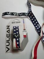 "1 ""America"" Vulcan Advanced 1mm Baseball Softball Bat Handle Cushion Grip Tape"