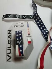 "1 grip: ""America"" Vulcan Advanced 1mm Baseball Softball Bat Handle Cushion Tape"