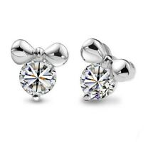Sterling Silver Mickey SWAROVSKI Element CRYSTAL Mouse Stud Earrings Gift Box C5