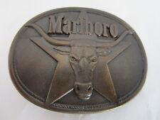 Marlboro Longhorn Oval Belt Buckle Solid Brass 1987