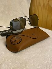 Ray-Ban Aviator Sunglasses RB3025 58mm 002/30 Black Frame Silver Mirrored Lenses