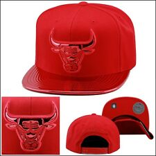 Mitchell & Ness Chicago Bulls Snapback Hat ALL RED/RED FOIL