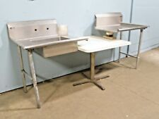 "LOT OF (2) ""ELKAY"" H.D. COMMERCIAL (NSF) S.S. SET OF L & R DISH WASHING TABLES"