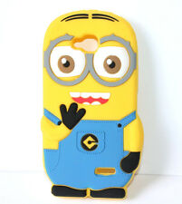 for LG Optimus L90 D415 - Soft Rubber Silicone Skin Case Cover Yellow Minion