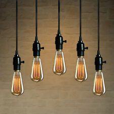 1pc Industrial Pendant Lamp Wire Bulb Socket Chandeliers Hanging Light Holder