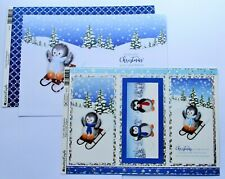 Kanban Cute Penguin Christmas Die Cut Foiled Toppers,Card, Insert Kit 54372