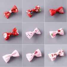 10Pcs Small Mini Bowknot Hair Clips Baby Dot Bow Hairpins Boutique Barrettes Set