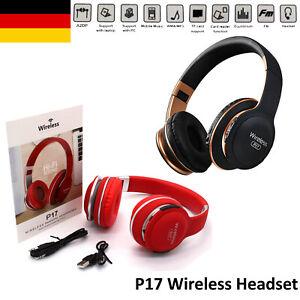 Bluetooth Kopfhörer Kabelloses Headset Over Ear Stereo Rot oder Schwarz P175.0