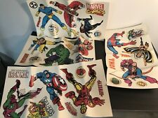 Marvel Comics 32 Peel and Stick Wall Decals Spider-Man Xmen Wolverine Avengers