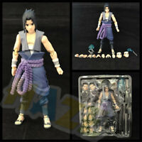 Anime NARUTO Shippuden Uchiha Sasuke Figure Model Movable 14cm New Toy