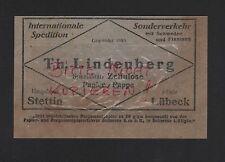 STETTIN LÜBECK, Werbung 1929, Th. Lindenberg Zellulose