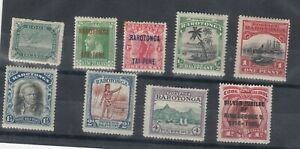Cook Islands 1911/35 Collection Of 9 MH JK2937