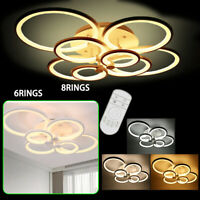 Acrylic Modern LED Lamp Living Room Ceiling Light Dimmable Chandelier+R/C Sale
