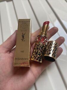 YSL Yves Saint Laurent Rouge Volupte Shine Lipstick 142 Rose In Wild BNIB