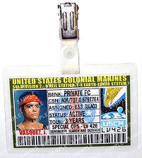Aliens ID Badge US Colonial Marines Vasquez J Sci-Fi Cosplay Prop Comic Con
