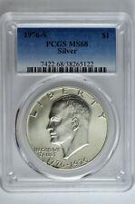 1976 S Silver Eisenhower Dollar $1 PCGS MS 68