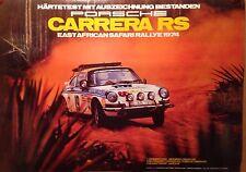 Porsche Carrera RS East African Safari Rallye 1974 Factory Car Poster! Own It!!