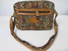 GOBELINS ART Belgian Flemish Medieval Tapestry Handcrafted Shoulder Handbag