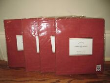 (4) NIP Pottery Barn Emery cafe curtains 50x24 red linen cotton *qty available