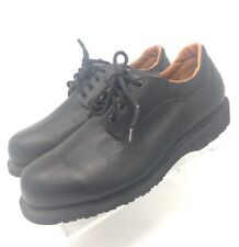 STC Footwear Black Lace Up Oxfords Gumlite  Vibram Men's Size 10.5M Work Shoes
