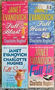 JANET EVANOVICH CHARLOTTE HUGHES FULL BLAST HOUSE SCOOP TILT PB 4 BOOK LOT