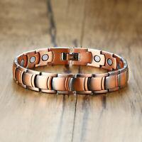"8.5"" Men Health Care Copper Bracelet Bangle Therapy Bio-Magnet Energy Healing"