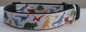 Dinosaur Handmade dog collar or lead leash grooming theropods diplodocus