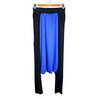 Gaffer And Fluf Ladies Designer Baggy Harem Pants Size Small Blue Black