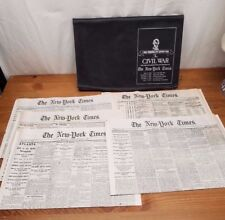THE NEW YORK TIMES FIVE CIVIL WAR ISSUES COMMEMORATIVE EDITION NEWS PAPERS