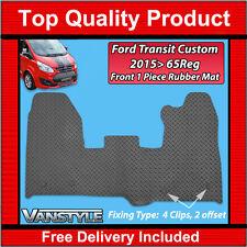 FORD TRANSIT CUSTOM 2015+ BLACK RUBBER MATS CAR FLOOR MAT HEAVY DUTY TOURNEO VAN