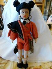 Antique 1935 LENCI Mascotte RARE MATADOR Doll EXCELLENT Gorgeous Costume TAG