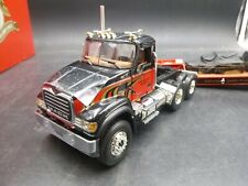 1ST FIRST GEAR GRANITE MACK TRUCK &TRAILER 2 AXLE LOWBOY W/LOAD 1/34 DIECAST
