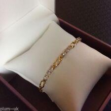 Diamond Yellow Gold Filled Chain/Link Costume Bracelets