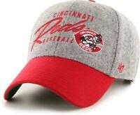 Cincinnati Reds Hat '47 Gray Red Adjustable Strap-Back Adult MLB Baseball Cap