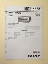 Sony MDS-SP55 Service Manual (original Document Not Copy Or PDF)